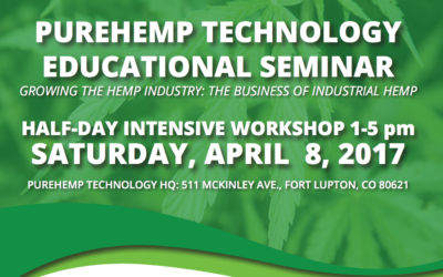 PureHemp Seminar THIS SATURDAY, April 8